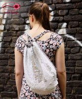 Backpack Reversible Sequins White-Silver