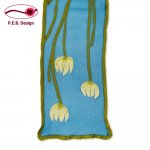 "Silk Scarf ""Water Lily"""