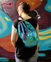Backpack Reversible Sequins Blue-Lilac