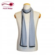 Silk Scarf Slate Blue-Anthracite