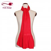 Wool Scarf Flounce Coral
