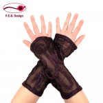 "Silk Arm Warmers ""Melody"" Black-Purple"