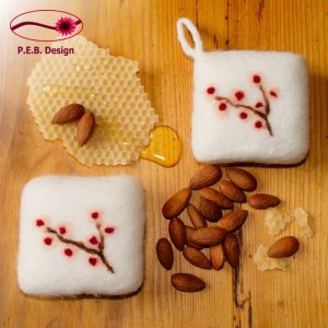 Felted Soap Honey-Almond