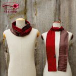 Silk Scarf Silk Loop Wine Red-Brown Violet