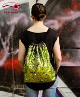 Backpack Reversible Sequins Yellow-Green